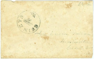 Confederate Cover Addressed to Houstonville, N.C. (Image1)