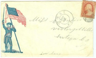 Union Patriotic Cover Postmarked at Troy, N.Y. (Image1)