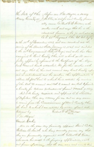68th Ohio Infantry Veteran Applies for Bond (Image1)