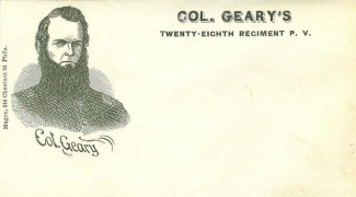 Patriotic Cover, Col. Geary's Twenty Eighth Regiment P.v.