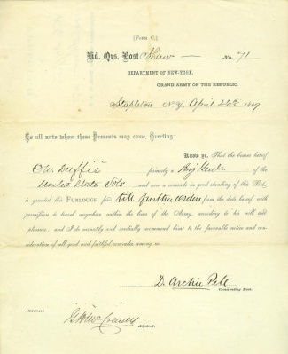 Furlough, Shaw Post No. 71, Grand Army of the Republic (Image1)