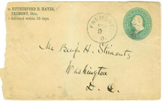 Rutherford B. Hayes Personal Imprinted Cover (Image1)