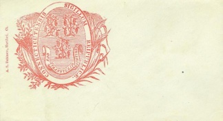 Patriotic Cover, Connecticut State Seal