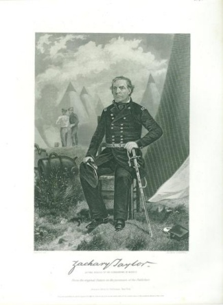 Engraving, General Zachary Taylor