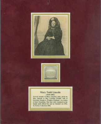 Mary Lincoln Hair Display (Image1)