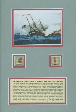 Display, The Battle Between The Cumberland And The Virginia