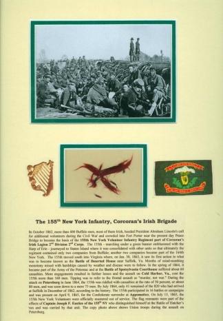 Display, Flag Remnants, 155th New York Infantry (Image1)