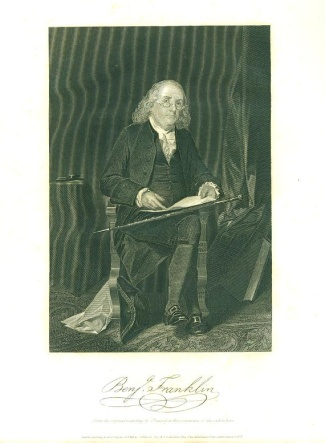 Engraving, Benjamin Franklin