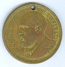 James A. Garfield 1881 Presidential Token