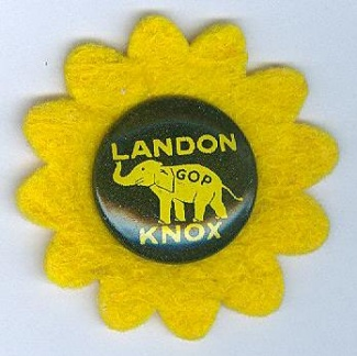 Landon Knox 1936 Presidential Campaign Button