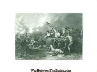 Engraving, Molly Pitcher At The Battle Of Monmouth, N.j.