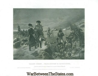 Engraving, General George Washington At Valley Forge
