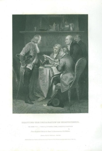 Engraving, Drafting The Declaration Of Independence