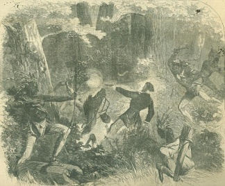 The Murder Of Lieutenant Beever By The Sioux Indians
