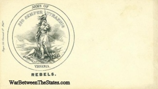 Patriotic Cover, State Arms Of Virginia Rebels