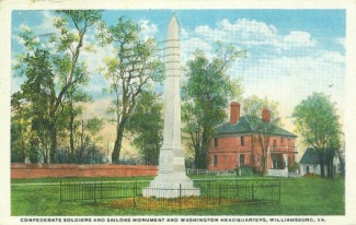 Confederate Soldiers and Sailors Monument and Washington Hdqtrs., (Image1)