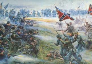 Pickett's Charge, Battle Of Gettysburg, Pa.