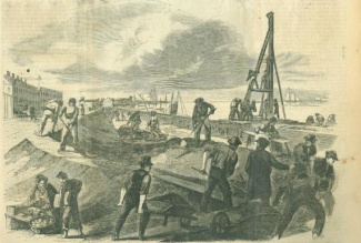 Repairing The Levee At New Orleans