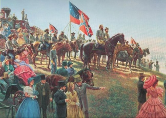 The Grand Review, General J.e.b. Stuart At Brandy Station, Va.