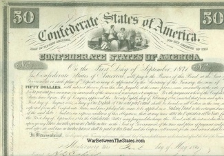 1861 Confederate $50 Bond (Image1)