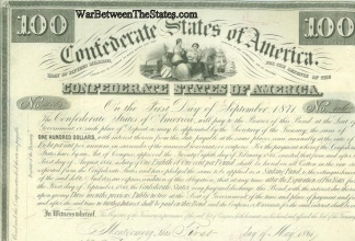 1861 Confederate $100 Bond