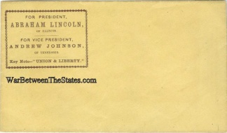 Abraham Lincoln & Andrew Johnson 1864 Election Campaign Cover