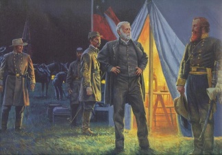 Generals' Robert E. Lee And J.e.b. Stuart At Gettysburg