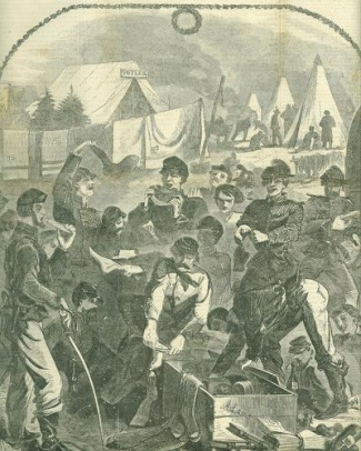 Christmas Boxes In Camp, Christmas 1861