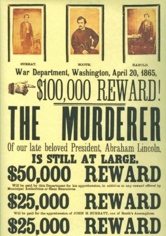 John Wilkes Booth Reward Poster