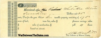 1840 Mississippi Tax Receipt Listing Slaves