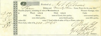 1845 Mississippi Tax Receipt (Image1)