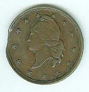 Civil War Merchant Token, Magnolia Hotel, Philadelphia (Image1)