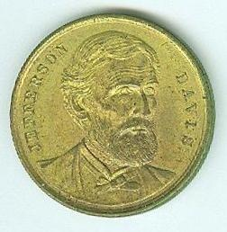 Brass Token, Jefferson Davis