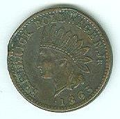 1863 Civil War Merchant Token, Frederick Rollwagen, Jr., N.y.