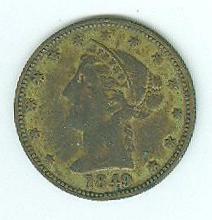 1849 California Gold Rush Token (Image1)