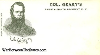 Patriotic Cover, Colonel Geary's 28th Pennsylvania Infantry (Image1)