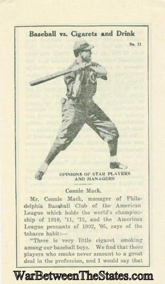 Temperance Tract, Baseball Vs Cigarets And Drink