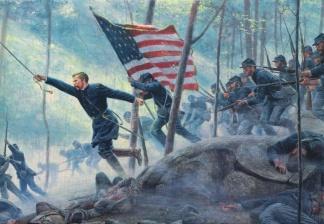 Colonel Joshua L. Chamberlain's Charge at Gettysburg (Image1)