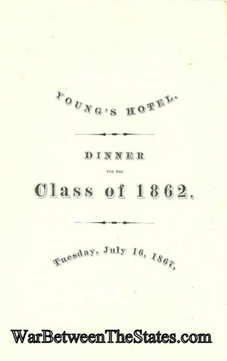 Harvard Class of 1862 Dinner Program (Image1)