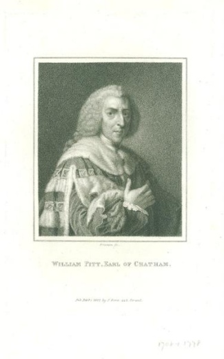 Portrait Engraving, William Pitt, Earl Of Chatham
