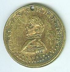 1841 Presidential Token, William Henry Harrison
