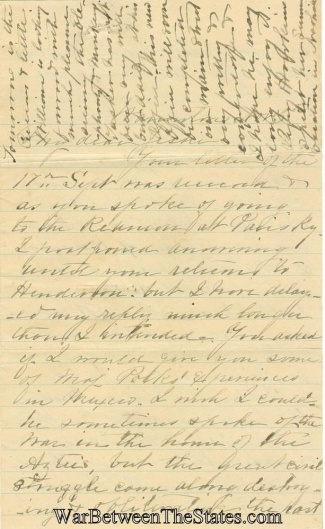 Letter Written By Mrs. Lucy E. Polk