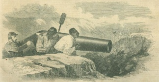 Rebel Captain Forcing Negroes To Load Cannon