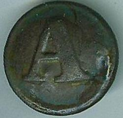 Confederate Artillery Uniform Button