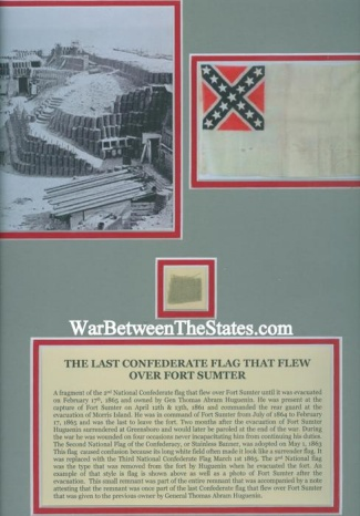 The Last Confederate Flag That Flew Over Fort Sumter