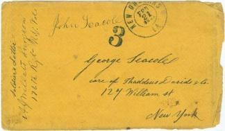 War Date N.y. Surgeon's Envelope Sent From New Orleans, La.