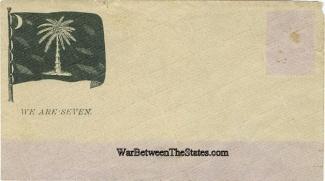 Confederate Patriotic Cover, South Carolina, We Are Seven (Image1)