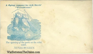 Patriotic Cover, A Flying Rumour For Jeff Davis' Private-ear (Image1)