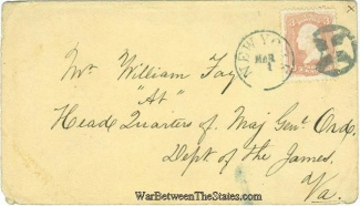 Civil War Cover Addressed to the Care of Major General Ord (Image1)