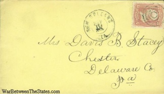 1862 Civil War Cover Postmarked at New Orleans, Louisiana   (Image1)